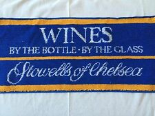 Stowells Of Chelsea Wine Bar/Beer Towel Cloth New