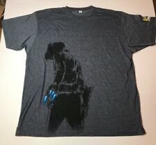 COMIC CON Size XXL MEN'S GRAY BLUE COWBOYS & ALIENS GRAPHIC TEE T SHIRT (A95)
