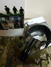 Army Military Peltor 3M ComTac XPI Ear Defenders Headset Green .