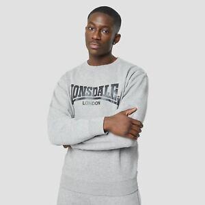Lonsdale Mens Essentials Crewneck Sweatshirt Crew Sweater T Shirt Tee Top Jumper