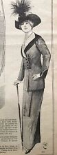 MODE PRATIQUE May 4,1912 + sewing pattern -RARE LUCIEN LELONG COSTUME (1st photo