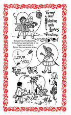 FLONZ I Love You // Valentine's Day Love Happy unmounted clear acrylic stamp 291