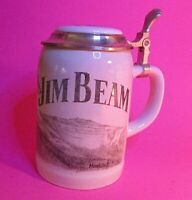 Rare 1998 Jim Beam Badger Club Lidded Wolf Stein Signed Frank Middlestat