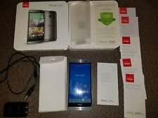VERIZON HTC ONE M8 GUNMETAL GRAY ANDROID SMARTPHONE 32GB COMPLETE EXCELLENT