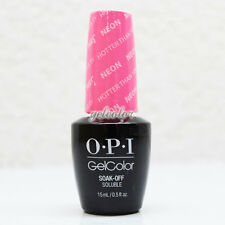 OPI GelColor Soak Off LED/UV Gel Nail NEON Color - Hotter than You Pink #GCN36