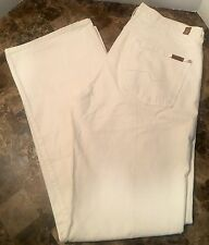 Men's 7 SEVEN FOR ALL MANKIND Relaxed Cream Pants - Size 32