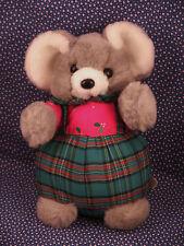 "NICE Christmas Mouse Plush Stuffed Animal Vintage 10"" 1988 Prestige Toy Corp."