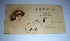 vintage J.H. ROPER Hardware agent Metal broker ad blotter Montreal coristine