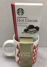 Starbucks Hot Cocoa & Mug New Holiday Gift Set 1 Oz Peppermint Cocoa 12 Oz Mug