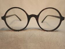 """FAUX TORTOISE SHELL ROUND """"WISE OWL"""" ENGLISH FRAME NEW & NEVER SOLD"""