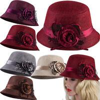 Organza Church Derby Hat Fascinator Tea Wedding Hat Ruffles Wide Brim Bridal Cap