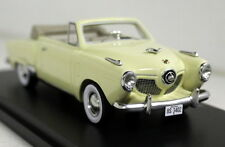 BoS 1/43 Scale Studebaker Champion Convertible 1951 Cream Resin Model Car