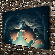 "Disney Elsa Anna HD Canvas Print 16""x26"" Home Decor Paintings Wall Art Pictures"