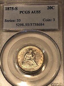 1875-S 20 Cent Piece PCGS AU55