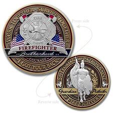 Fire Fighter Brotherhood Challenge coin · FireFighter Saint Florian Coin