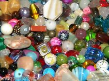 NEW 1 Pound Glass Mixed LOOSE BEADS LOT Multi Color Lot ((NO junk!))