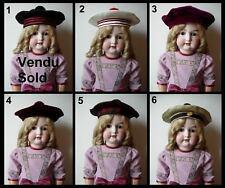 Chapeau béret poupée Jumeau SFBJ Kestner Halbig Kammer Heubach hat antique doll