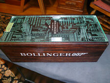 Bollinger 007 Millesime 2011 Champagne Wood Hydraulic Glass Lift Case.