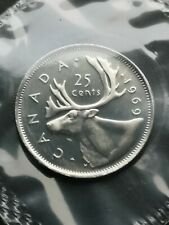 *** CANADA  25  CENTS  1969 ***  SEALED  PROOF  LIKE  ***