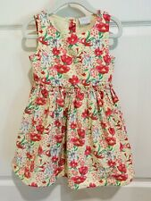 F & F Kids Girl's NWOT Sleeveless Floral Dress Size 4T Lined Pink Yellow Green