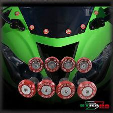 Strada 7 Racing CNC Pare-Brise Vis Carénage Kit 8pc Kawasaki ZX10R 04-14 Rouge