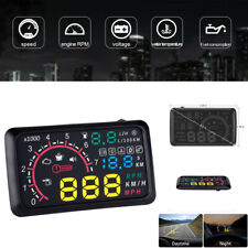 "5.5"" OBD2 HUD Head Up Display Fuel Consumption Cruise Range Speed Warning System"