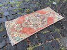 Bath rug, Small rug, Vintage handmade rug, Turkish ethnic rug | 1,1 x 2,6 ft