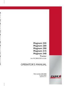 CASE IH MAGNUM 235 MAGNUM 260 MAGNUM 290 MAGNUM315 MAGNUM 340 TRACTOR OPERATOR`S