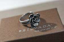 CUTE Silpada Sterling Silver .925 Rose Ring Size 8 R2207 Beautiful! WOW!