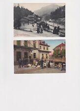 18 x SWITZERLAND ASSORTED RAILWAY STATIONS HOTELS STREETS POSTCARDS E20C -
