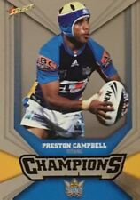 2011 NRL SELECT CHAMPIONS TITANS PRESTON CAMPBELL SILVER PARALLEL SP55 FREE POST