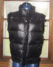 Mens Adidas Down Varsity Vest Jacket Black Silver MSRP $250 Sz M or L or XL