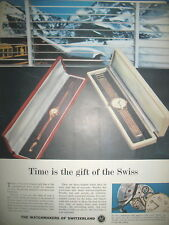 PUBLICITE DE PRESSE MONTRE SUISSE WATCHMAKERS JEWELLER ADVERTISING 1965