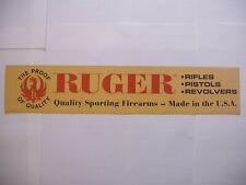 Original Sturm Ruger Firearms dealer Display Paper sign