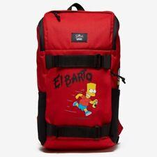 Vans x The Simpsons El Barto Obstacle Skatepack Backpack Bag Red New