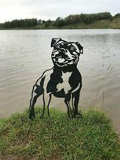 More details for staffordshire bull terrier staffy metal dog garden art