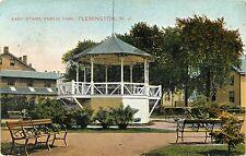 Closeup View of the Band Stand, Public Park, Flemington NJ 1914