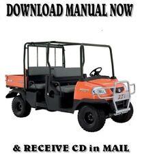 Kubota RTV1140 CPX OEM w/ COLOR PHOTOS Repair Workshop Manual on CD