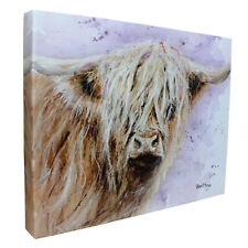 Archibald Highland Cow Canvas Cutie