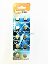 10 x EUNICELL AG13 LR44 SR44 L1154 357 A76 ALKALINE BUTTON CELLS COIN BATTERIES