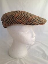 GENTS SCOTTISH TWEED FLAT CAP WOOL FISHING HUNTING HIKING SCOTS BUNNIT Size 71/4