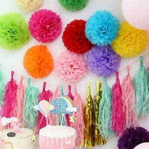 20/24/30 cm Tissue Paper Pom Poms Garland Wedding Party Birthday Hanging Decor