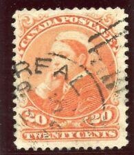 Canada 1893 QV 20c vermiglio usato molto raffinata. SG 115. SC 46.