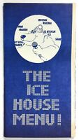 1980's Vintage Menu THE ICE HOUSE Restaurant Comedy Music Magic Pasadena CA