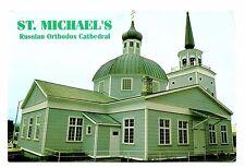 St Michael's Russian Orthodox Cathedral Postcard Alaska Sitka Natl Historic Site