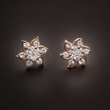 Classy 0.86 Cts Natural Diamonds Stud Earrings In Fine Certified 18K Yellow Gold