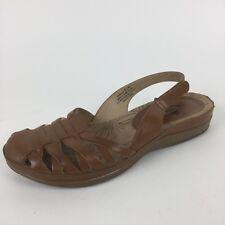 YUU Demillie Slingback Sandals Shoes Women's Size 6.5 M Brown Camel EUC