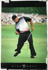 Tiger Woods Rare Nike Golf Poster