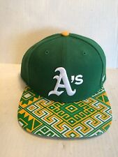 Oakland A's 47 Brand MLB COOP Moroc Fitted Hat Size 7 1/8 Green
