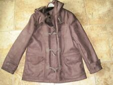 Chaps large brown toggle winter coat brushed warm lining